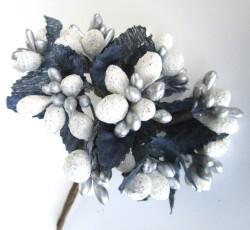 bacche bianco argento 0050