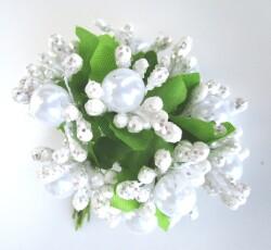 bacche con perle bianco 0053