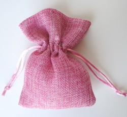 sacchetto cotone rosa 0049