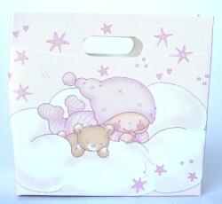 scatola borsa new stelline rosa 0096