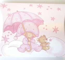 scatola busta stelline rosa 0095