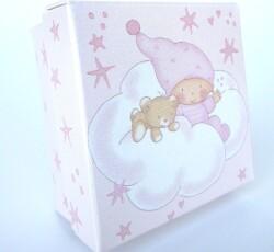 scatola f.c. 6x6x3,5 stelline rosa  0093