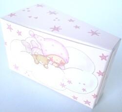 scatola fetta torta stelline rosa  0094