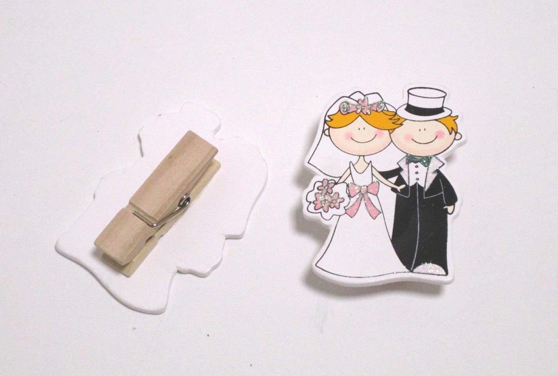 Segnaposto Matrimonio Mollette.Mollette Sposi 0139 Qui Di Tutto La Tua Bomboniera