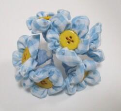 fiori quadri azzurro 0144
