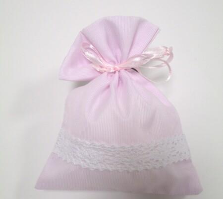 Sacchetto righe rosa 0201